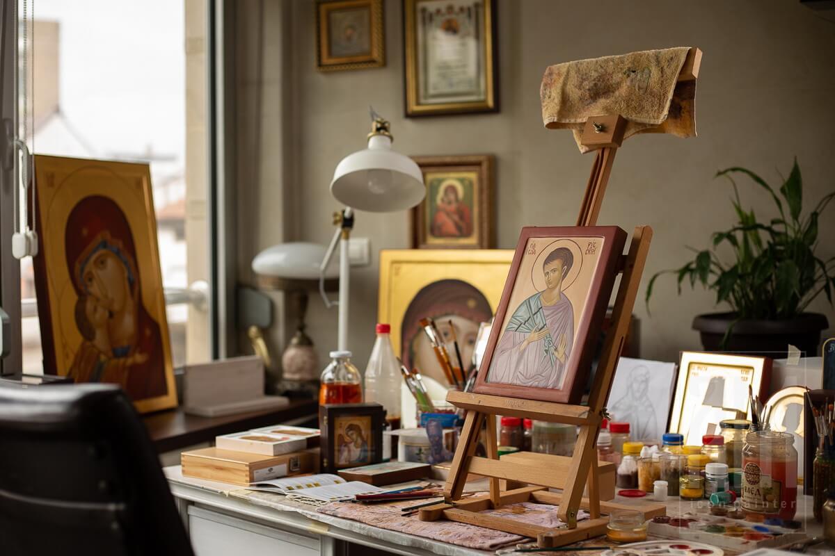 Ana Maljevic - Ikone sa blagoslovom Crkve - Izrada ikona 27
