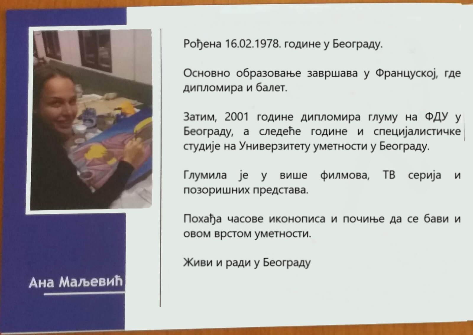 Ana Maljevic - Pravslavne ikone po narudžbini - Katalog izložbi 013