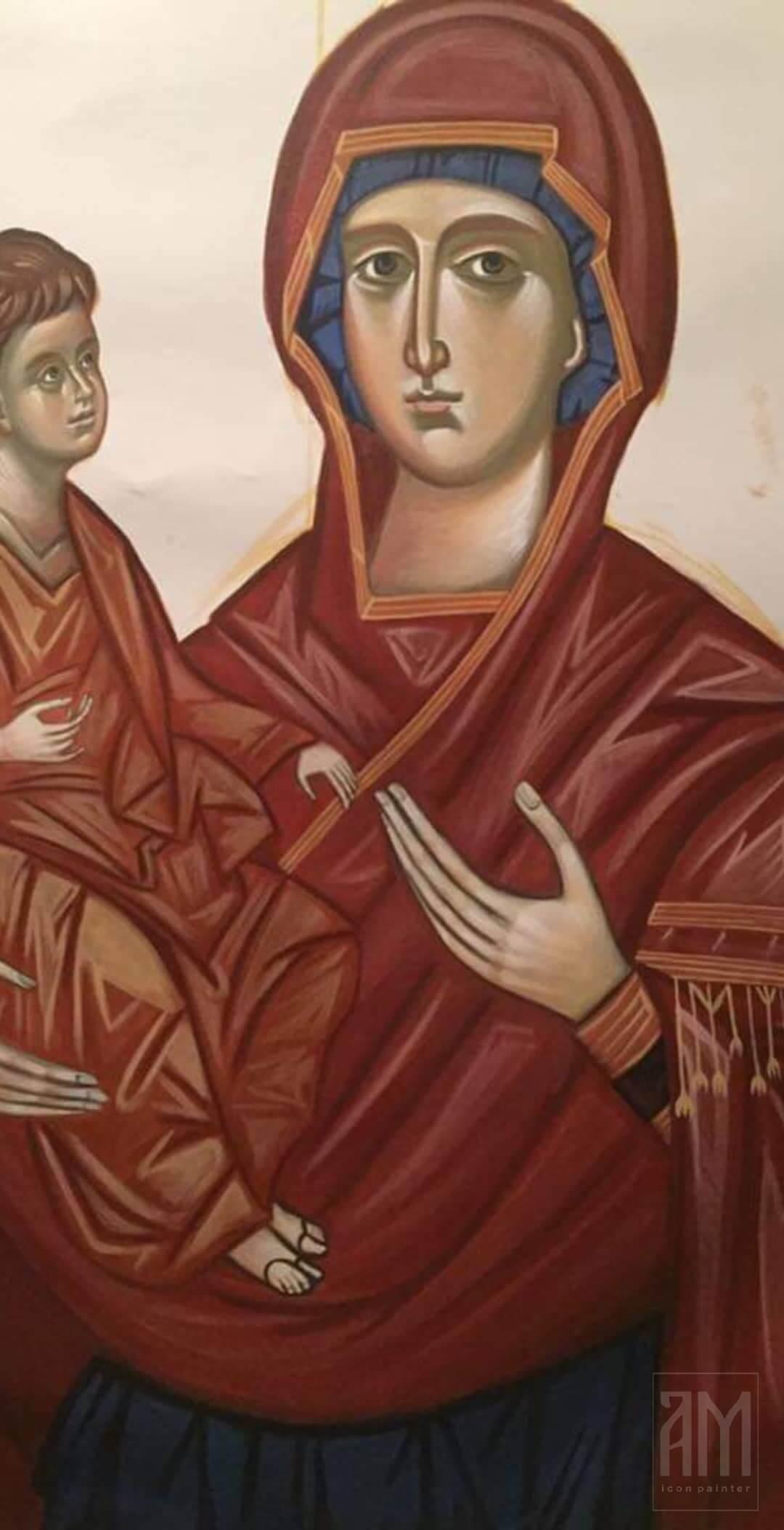 Ana Maljevic - Ikone sa blagoslovom Crkve - Radovi - Freske 07