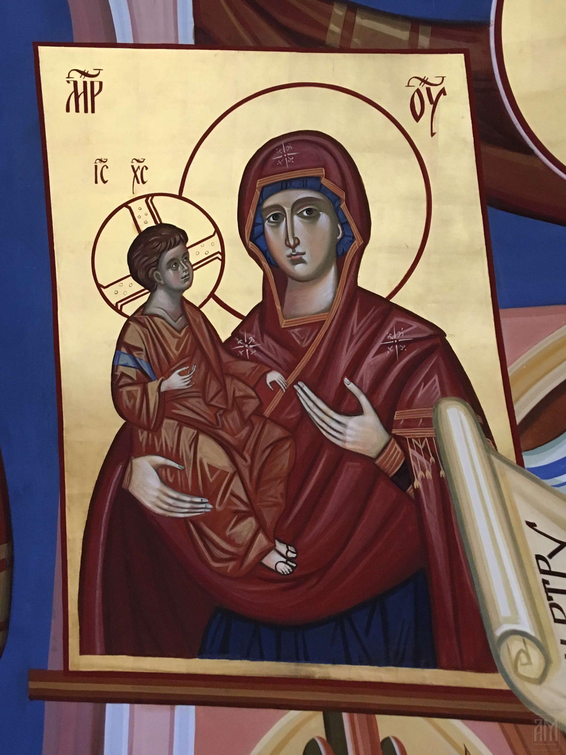 Ana Maljevic - Ikone sa blagoslovom Crkve - Radovi - Freske 10
